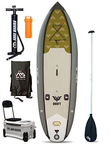 Aquamarina Drift Pêche Specialist Sup Gonflable Stand Up Paddle Board (3 m 10 en/3 m), Femme Homme, Board + Paddle