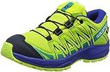 Salomon Unisex-Kinder XA Pro 3D CSWP J Trailrunning-Schuhe, Synthetik/Textil, Grün (acid lime/surf the web/tropical green), Gr. 35