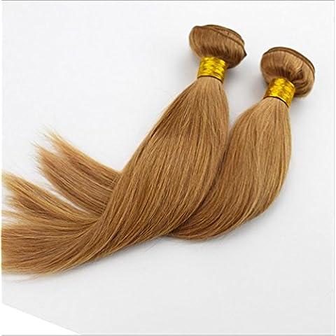 Meydlee AccessoriPosticci 6a Tingibili 100% capelli umani lisci estensioni moda non colore nessun spargimento e groviglio libero 1 pezzo , 20 inch