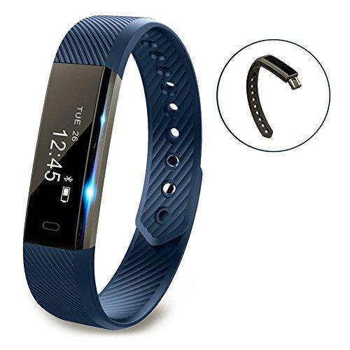 Vigorun Fitness Tracker YG3 Pulsera Inteligente Notificación de Llamadas/podómetro/Contador de calorías/recordatorio sedentario/Monitor de sueño Reloj Deportivo Compatible con Android y iOS