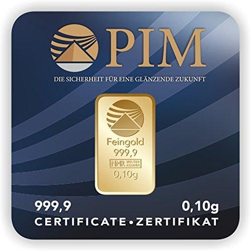 Pim Goldbarren 0,10 Gramm Nadir Goldbarren 0,1g -