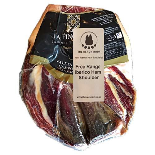 2.2 Kg+ Freilandhaltung Pata Negra Iberico Schinken ohne Knochen aus Spanien - Ein echtes spanisches Gourmet-Erlebnis, das Sie mit Ihren Lieben teilen können - Spanischer knochenloser Jamon Iberico