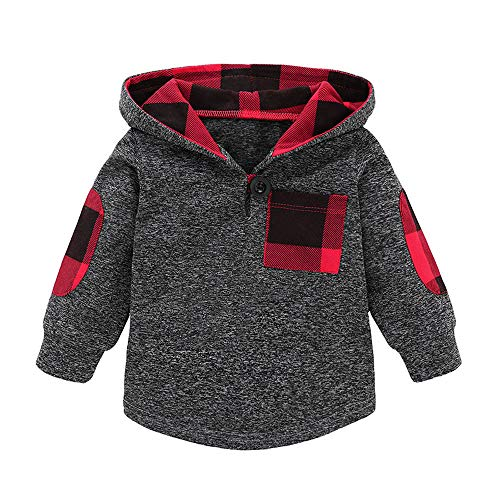 Babykleidung Neugeborene Winter,Covermason S/äugling Kleinkind Baby Jungen M/ädchen Plaid Pullover mit Kapuze Oberteile Tops Hosen Set Outfits
