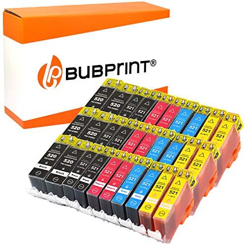 30 Bubprint Druckerpatronen kompatibel für Canon PGI-520 CLI-521 für Pixma IP3600 IP4600 IP4700 MP540 MP550 MP560 MP620 MP630 MP640 MP980 MX860 MX870