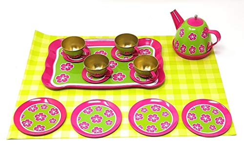 (EWTG 15 TLG. Kinder Tee-Set Teeservice Puppengeschirr Kanne Party Rollenspiele)