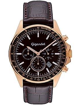 Gigandet G3–004–Uhr für Männer, Lederband braun