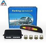 Auto Safety Einparkhilfe Parksensor Rückfahrhilfe Auto Parken Sensor System Mit Farb-Display 4 Sensoren Champagner