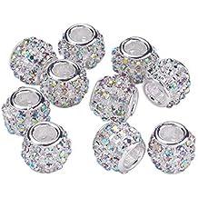 20 Perlen STRASS quadratisch zum aufkleben Acryl TRANSPARENT 12 mm Schmuck