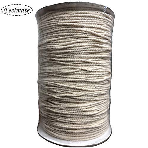 Feelmate Cuerda macramé 100% algodón natural Hilo