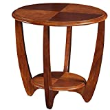 Unbekannt FEI Rack Tische Couchtisch aus Holz Couchtisch mit Holzfuß 2 Größe/2 Farbe (Farbe : Nussbaum, größe : 60cm)