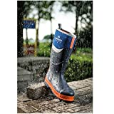 DQ Services Buckler Buckbootz BBZ6000BL Blue Neoprene Rubber Safety Wellies for Men | UK Sizes 5-13 Bild 2