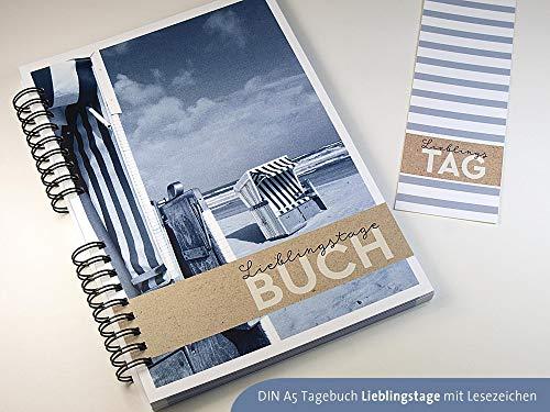 Tagebuch DIN A5 für Lieblingstage mit Einleger Kalendarium 2018 2019 2020 handmade