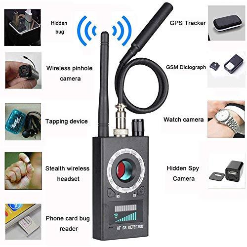 Wireless Camera Finder (Anti-Spion-Kamera-Detektor für versteckte Kamera Laserobjektiv GSM Abhörgerät Finder Wireless RF Bug Detector Signal Radar Funkscanner Wireless Signal Alarm,c)