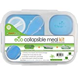Best Smart Planet Lunch Boxes - Smart Planet EC-34 Large 3-Compartment Eco Silicone Collapsible Review