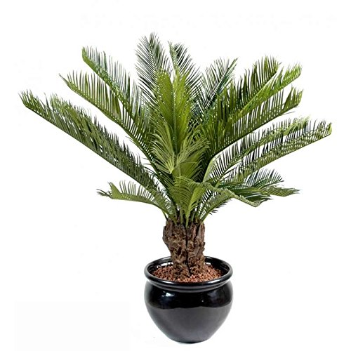 arbuste artificiel cycas tronc avec pot. - h : 90