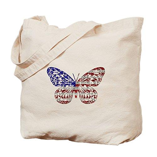 CafePress Einkaufstasche American Butterfly, canvas, khaki, S