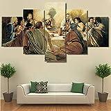 ZQDMYB Das Letzte Abendmahl Leinwand Jesus Christus Poster und Drucke Große Moderne Kunst Ölgemälde Leinwanddruck Bild, 30X40 30x60 30x80cm