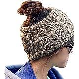 Women Lady Girl Wool Knitting Knitted Hat Headgear Crochet Flora Headband Head Wrap Hair Band Hairband Dark Grey
