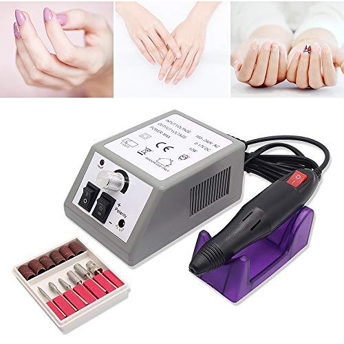 Elektrische Nagelfeile Nagelpflege Gerät, Profi Fußpflegegerät Maniküre-Pediküre-Set für Fräser Gelnägel Maniküre Pediküre Profi Nageldesign