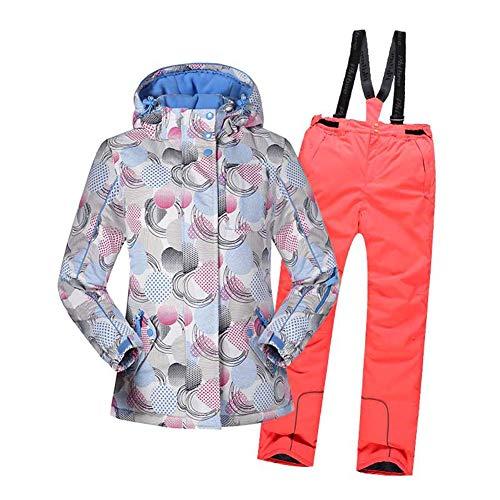 YFCH Kinder Skianzug Winter Skijacke Skihose Set Mädchen Jungen Schneeanzug Wasserdicht Winddicht Winter Skiset 128   08391982713302