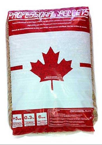 Pellet canadese professionale da riscaldamento di abete rosso 80% + abete bianco 20% in conf. da kg. 15.