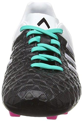 adidas Ace 15.4 Flexible Ground, Scarpe da Calcio Bambino Multicolore (Core Black/Matte Silver/Shock Mint)