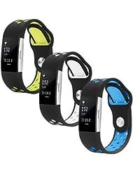 Hanlesi Armband für Fitbit Charge 2 , silicagel silikon einstellbare mode ersatz sport band f¨¹r fitbit Charge 2 smartwatch puls fitness armband