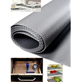 NAMAN RETAILS, 1 Piece Useful and Multipurpose FULL LENGTH 0.6 X 5 METER (60 x 500 CM) Anti Slip grip Mat, non slip liner, Skid Resistant Mat - For Fridge, Bathroom, Kitchen, Drawer, Shelf Liner, Cupboard Underlay Liner and Household. Material PVC. Color: Multi color, will be sent as per availability