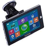 XINMY 7 Zoll Europe Traffic GPS Navi system Navigationsgerät mit kostenlosen lebenslangen Kartenupdates für ganz Europa für LKW Bus KFZ Fahrspurassistent Sprachführung WINCE 6.0 8GB RAM 128MB
