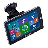 XINMY 7 Inch Car Truck GPS Sat Nav System Europe Traffic Lane Assistant Voice Guidance, Speed Indicator POI 8GB Navigation Device with Free Lifetime Map Updates for Car TAXI
