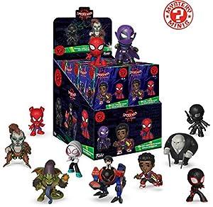 Funko-Mystery Mini Blind Box Color Marvel: Spiderman Animated Color PDQ (CDU 12),, 34757