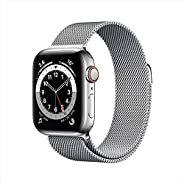 AppleWatch Series 6 (GPS + Cellular, 40mm) - Silver Stainless Steel Case with Silver Milanese Loop