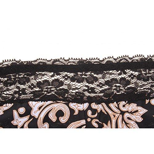 Misemiya ® Damen Unterhose Schwarz