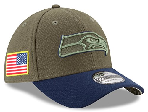 Salute Service To (Seattle Seahawks New Era NFL 39THIRTY 2017 Sideline