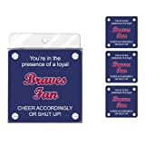 Tree-Free Greetings nc38078 Braves Baseball Fan 4er Pack Künstlerische Untersetzer Set
