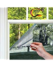 TOTAL HOME Sunscreen Refraction Reduce UV Window Film Sticker One Way Mirror for Factory Building Door of Living Room (50x100 cm)