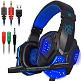 TRUCASE T900 Stereo Gaming Headset with Mic for PS4, PC, Xbox One Controller