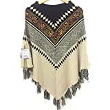 #5: Woolly 2018 Latest Pullover Cardigan Womens Ponchoes Capes Sweater Tops #RS 1013