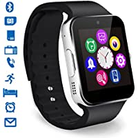 CHEREEKI Smartwatch Bluetooth Smart Watch Reloj Inteligente Teléfono Inteligente Pulsera con Cámara Pantalla Táctil Soporte SIM / TF para Android Samsung HTC LG Huawei Sony Reloj Deportivo (Plata)