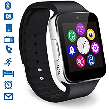 CHEREEKI Bluetooth Smart Watch avec Caméra Ecran Tactile Support SIM / TF Card Montres Connectée Smartwatch