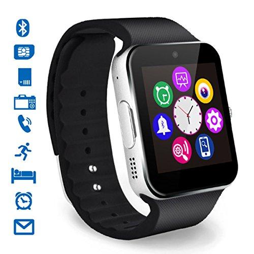 Smartwatch, CHEREEKI Bluetooth Smart Watch con Camera Orologio Intelligente con Macchina Fotografica SIM / TF Card Slot Schermo Touch Contapassi per Smartphone Android Samsung Huawei Honor HTC LG Sony...