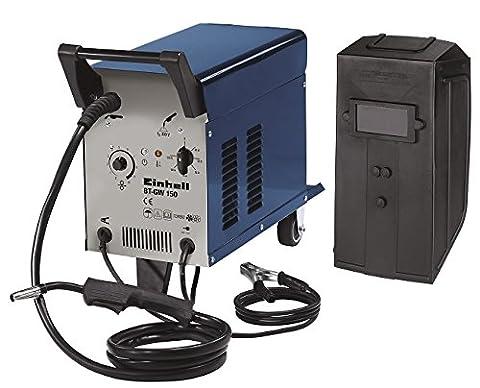 Einhell Schutzgas Schweißgerät BT-GW 150 (bis 150 A, 230 V, inkl. Masseklemme, Brenner, Ventilatorkühlung, fahrbar, Schweißschirm, Druckminderer)