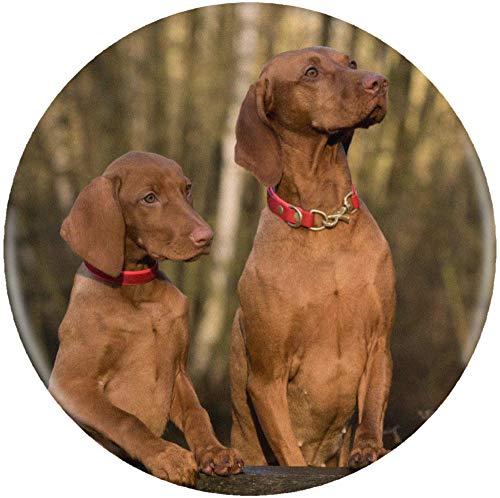 Azeeda 58mm 'Vizsla Hunde' Pin Knopf-Abzeichen (BB00003209) -