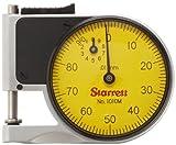 Starrett 1010MZ quadrante tasca indicatore calibro, stelo 9.525mm dia, Yellow Dial, 0–100Reading, 0–9mm Range, 0.01mm Graduation