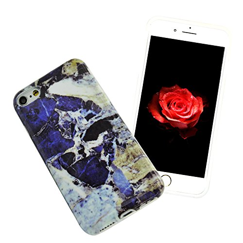 Coque pour iPhone 5s, Sunroyal® Coque Etui Housse iPhone SE / iPhone 5 5s Motif Marbre TPU Silicone Doux Case Ultra Mince Souple Marble Effect Back Cover Couvrir Skin Portable de Protection Shock Abso Marbre 47