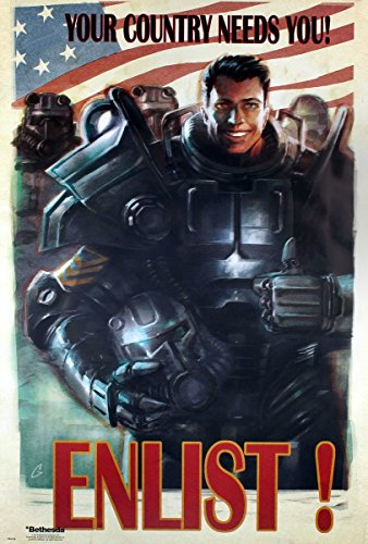 GB Eye, Fallout 4, Enlist, Maxi Poster, 61 x 91,5 cm