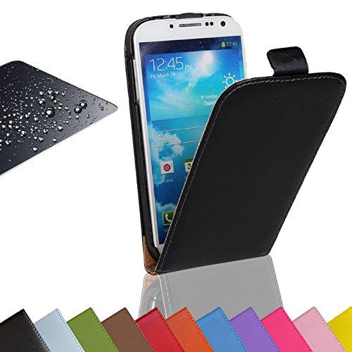 Eximmobile Flip Case Handytasche + Panzerfolie für Nokia Lumia 530 Schutzhülle in Schwarz Handyhülle aus Kunstleder Tasche Cover Etui Hülle mit Echt Glasfolie Schutzfolie Displayschutzfolie