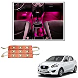 #6: Vheelocityin 9 LED Custom Cuttable Bike/ Car Pink Light for Interior/ Exterior For Datsun Go