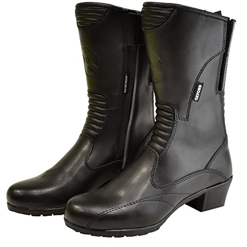 Oxford Products - Stivali Moto in Pelle, Nero, 36