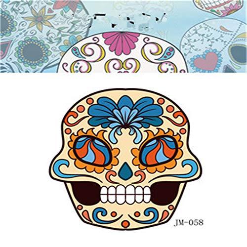 Umweltfreundliche wasserdichte Party Halloween Tattoo Aufkleber Shantou lustiges Kind Erwachsene Horror Gesicht Aufkleber 40 6x8,5 cm
